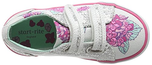 Start Rite Endless Summer, Chaussures Bateau Fille, Multicolore Blanc - White (White Sparkle)