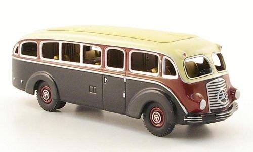 Mercedes LO 3500, schwarz/dkl.-rot/beige, Modellauto, Fertigmodell, Bub 1:87