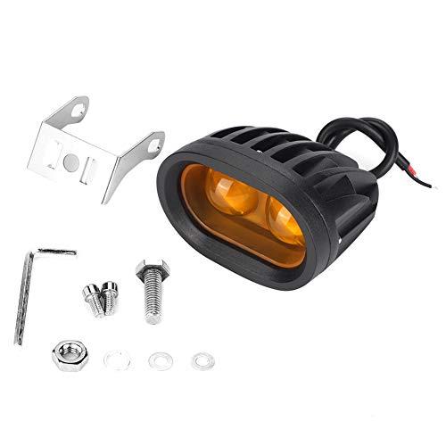 Pasamer Faretto da Incasso per Moto off-Road per Auto da Lavoro a LED 2LED 20W 2D IP67 Giallo Impermeabile