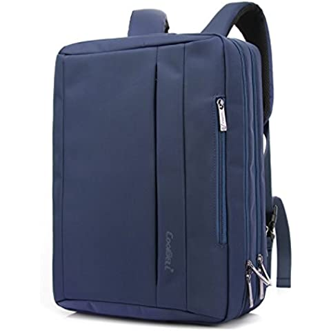 Coolbell (TM) 15.6inch Convertible multifunción maletín bandolera para ordenador portátil ordenador bolsa bolsillo mochila gamuza de Oxford impermeable con varios compartimentos maletín para iPad Pro MacBook Hombres y Mujeres azul 15,6 pulgadas