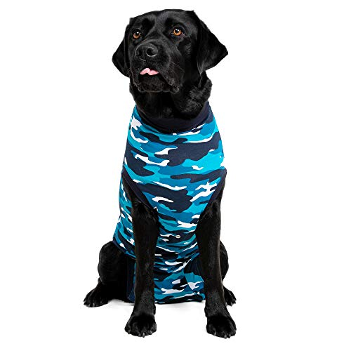 Suitical Recovery Suit Perro, M, Camuflaje azul