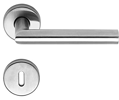 MS Beschläge Door handle from stainless steel matt brushed Model Helene