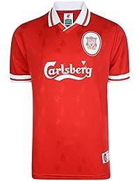 Liverpool FC Official 1996 Classic Retro Men's Football Kit Strip Shirt (XXL)