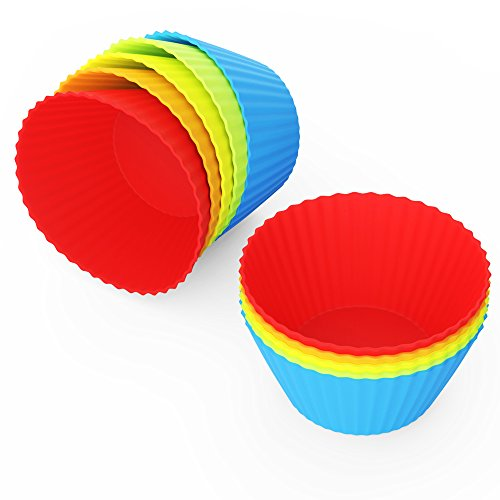 anbina Muffinförmchen 25er Set an wiederverwendbaren Silikon Muffinformen im 25er Muffin Pack in 5 Farben