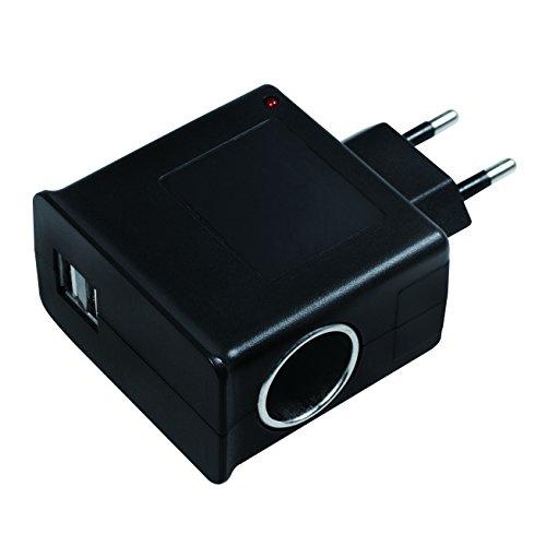 Zigarettenanzünder-pc (LogiLink Steckdosenadapter, 2x USB-Port 1A max. (5W) + 1x Zigarettenanzünder Buchse 1A max (12W))