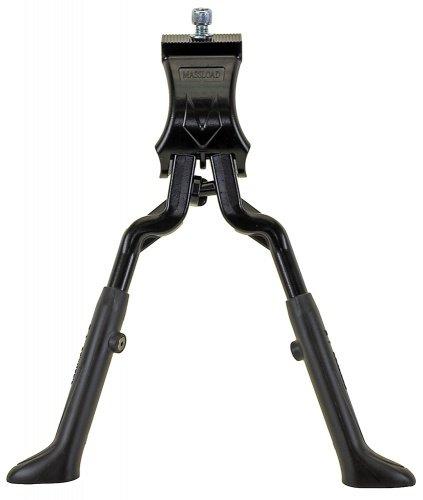 Doppel-Standard 24-28 Zoll Aluminium schwarz (Wave Fahrradständer)