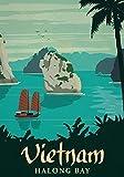Générique Vietnam Voyage Vintage Photo Poster Imprimé Cité Pays Rétro Décoration Murale 001 (A5-A4-A3) - A3