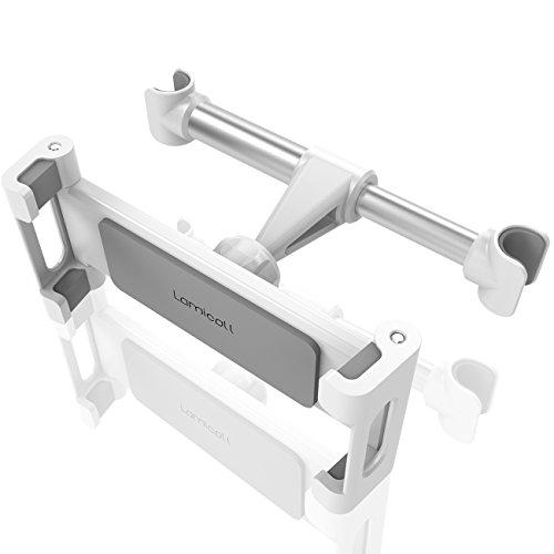 Tablet Halterung Auto, Lamicall Universal Tablet Halterung : KFZ-Kopfstützen Halterung für iPad Air Mini 2 3 4, New iPad 2017 Pro 9.7, 10.5, Tab, E-Reader, Smartphone und Tablet mit 4.7~13 zoll - Weiß