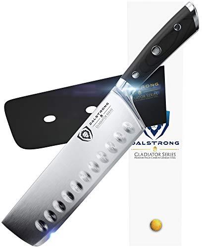 "DALSTRONG Nakiri Knife - Gladiator Series - German HC Steel - 7"" (180mm)"