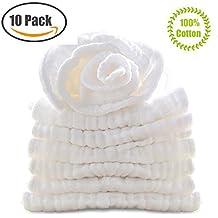 Muslin Organics Baby Washcloths, Premium Reusable Wipes - Extra Soft For Sensitive Skin,Newborn