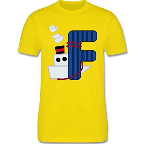 Anfangsbuchstaben - F Schifffahrt - Herren Premium T-Shirt Lemon Gelb