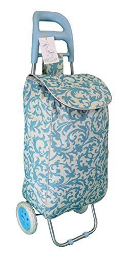 Großer Einkaufstrolley Moderner und farbenfroher Ziehkarren Leicht und robust. Zusammenklappbar, zusammenklappbar, verstaubar 95 cm blau