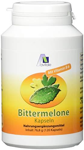Tropische Früchte-extrakt (Avitale Bittermelone Kapseln mit standardisiertem Frucht-Extrakt der Bittermelone (Momordica Charantia) u. Vitamin B6 für einen normalen Homocysteinspiegel, 120 Kapseln)