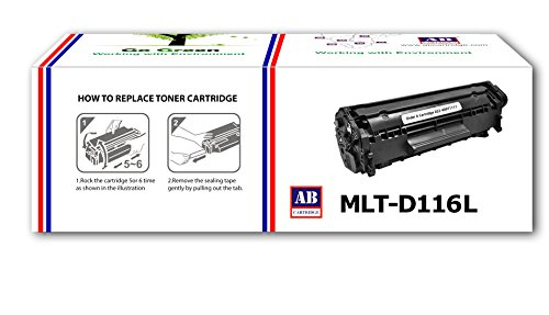 AB MLT-D116L Black Compatible Toner Cartridge for Samsung SL-M2625, SL-M2625D, SL-M2626, SL-M2675, SL-M2675FN, SL-M2676, SL-M2825, SL-M2825DW, SL-M2825ND, SL-M2826, SL-M2875, SL-M2876, SL-M2876ND, SL-M2875FD, SL-M2875FW  available at amazon for Rs.800