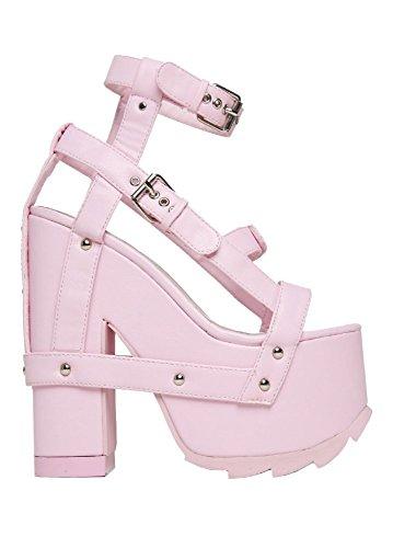 501c51701606 YRU Nightcall Pastel Gothic Lolita Women s Platform Sandal Baby Light Pink  ...