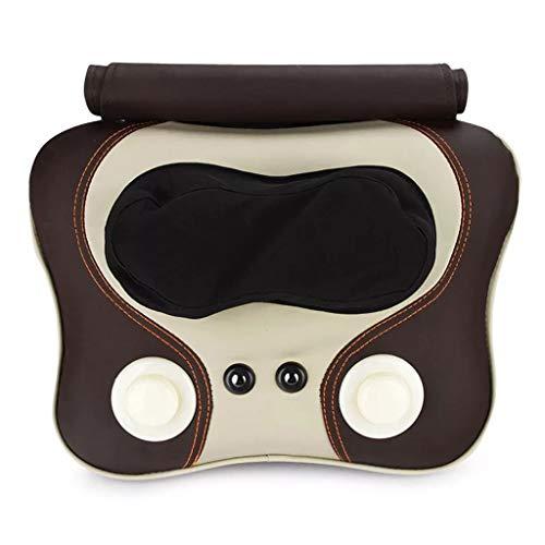 JQWGYAMZ Haushalts-Auto-Multifunktionselektrisches zervikales Massage-Kissen-voller Körper, der knetenden Massager zuschlägt - Halsband Leder Auto Mantel