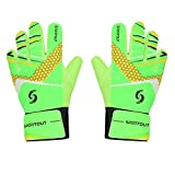 Sportout Kids Junior Goalkeeper Gloves, Boys and Girls Training Gloves(5, Green)