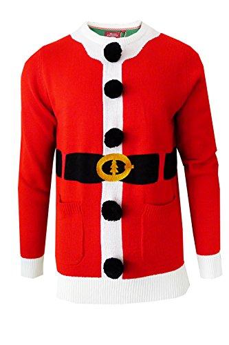 Herren Weihnachten-jumper Brave Soul Gestrickt Weihnachten Kapuzenpullover Weihnachtself Winter Neu Santa - 230BAILEY