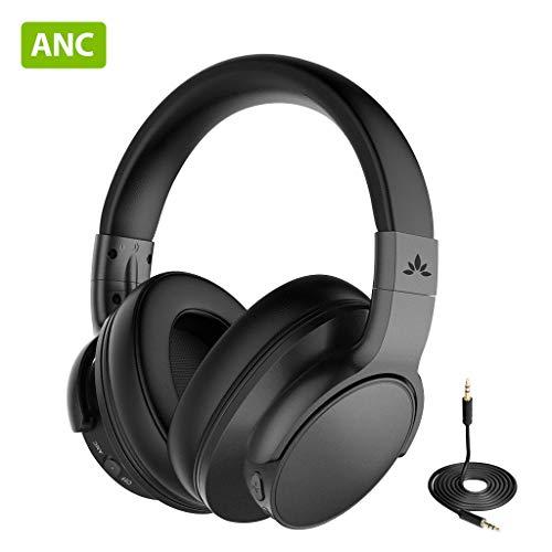 Avantree [Upgraded] Active Noise Cancelling Wireless Bluetooth Kopfhörer für Flugzeug Reisen Mähen, Drahtlose Wired ANC Over Ear Funkkopfhörer fur Fernseher, Low Latency Hi-Fi Headset für PC TV Handys thumbnail