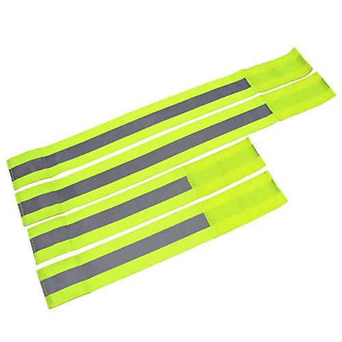4st Schnapparmbänder Reflektorbänder, AutoDog Armband lang (30*5cm) kurz (45*5cm) mit Klettverschluss für Sport Kinder Haustiere