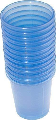 80 Stück Medikamentenbecher Medizinbecher Schnapsbecher Farbe: blau