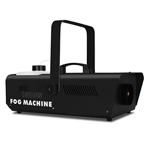 Lightcraft Fog 1500BK macchina fumogena 1500Watt Fog Machine scena tecnica con telecomando (10m di portata, serbatoio da parete e soffitto, 1l)