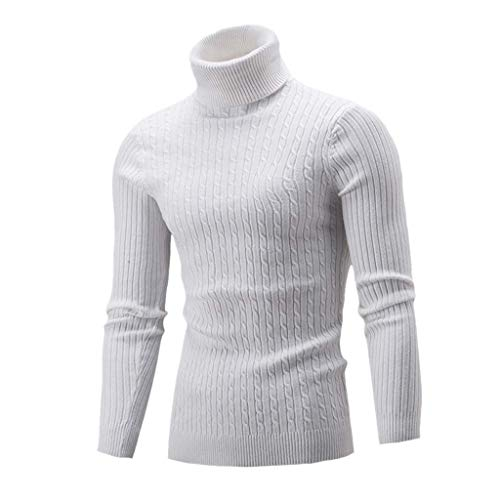 iHENGH Hiver Hommes Mince Tricot Chaud Pull col Haut Pull Pull col roulé Top