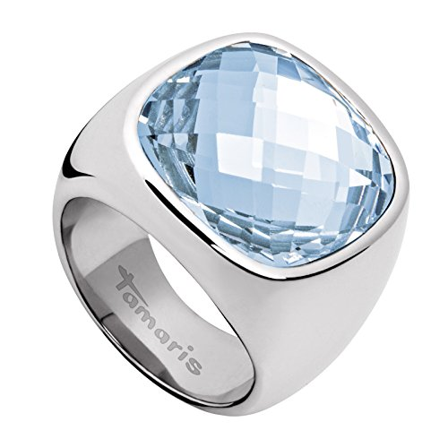 Tamaris-Damen-Ring-Simona-Edelstahl-Glas-blau-Gr-58-185-A03710237