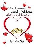 Emotions & Surprises Karte Postkarte Antrag Poster DIN A 4 Heiratsantrag/Verlobung Hochzeit Bild gedruckt auf Kunsstoff/Wabenplatte