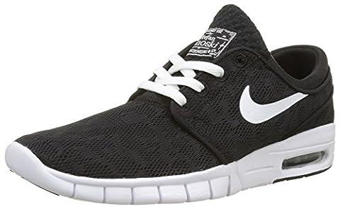 Nike Stefan Janoski Max Sneaker Turnschuhe Freizeitschuhe Schuhe Unisex- Schwarz - Weiß, 46 EU