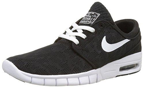 Nike Stefan Janoski Max Sneaker Turnschuhe Freizeitschuhe Schuhe Unisex- Schwarz - Weiß, 46 EU (Sb Nike Air)
