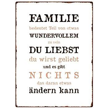 Wandschild Metallschild Familie Bedeutet Teil Dekoration Geschenk
