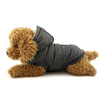 Smalllee _ Lucky _ Ranger Doublure polaire Manteau à capuche élégante d'hiver vêtement pour chien, Bleu, L