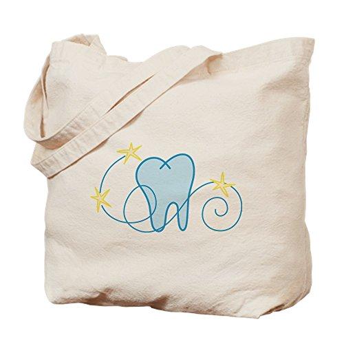 CafePress Einkaufstasche aus Leinen, mit Zahn-Motiv, naturfarben, canvas, khaki, S -