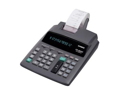 CASIO FR-2650T Tischrechner mit seriellem Druck zweifarbig, Steuerberechnung
