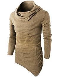 Suéter tipo con cuello de tortuga de los hombres, camiseta del músculo de manga larga camiseta casual Tops blusa por Morwind