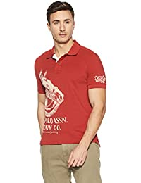 US Polo Association Men's Printed Regular Fit Polo