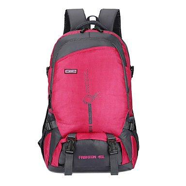 45 L Tourenrucksäcke/Rucksack Laptop-Rucksäcke Radfahren Rucksack Rucksack Draußen Nylon ruby