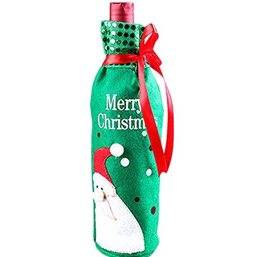 us Wein Flasche Abdeckung Hüte Dekoration Home Party Santa Claus Weihnachten Weinflasche Anzug (Grün) (Der Santa Anzug)