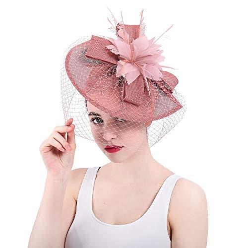 er Hut Cocktail Tee Party Hut Hochzeit Kopfbedeckung Blume Haarspangen Damen Tag Wettbewerb Royal Ascot ()