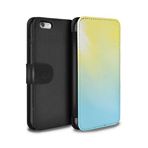 Stuff4 Coque/Etui/Housse Cuir PU Case/Cover pour Apple iPhone 6S / Tour Eiffel Croquis Design / Ombre Vivante Collection Éruption Solaire