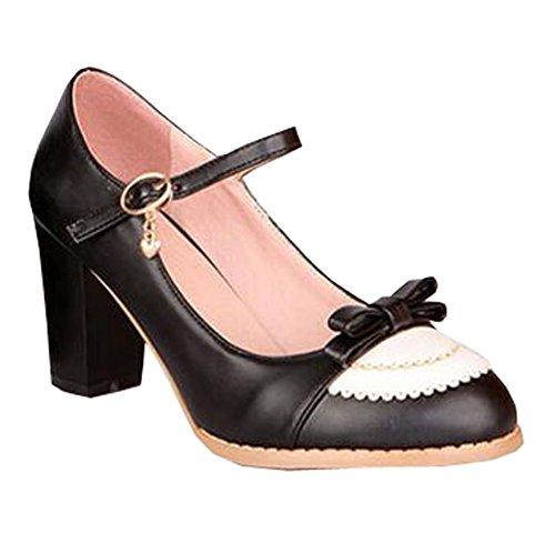 2015 fashion dress shoes sexy high heel shoes women pumps women's wedding shoes size 34-43 Schwarz