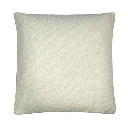 Wolle Mohair Effekt Strick Elfenbeinfarben Creme 45,7cm-45cm Kissenbezug