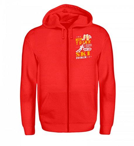 Hochwertiger Zip-Hoodie - Ski Shirt · Wintersport · Lustiges Geschenk für Ski-Fahrer · Spruch: Mein Trink-Team