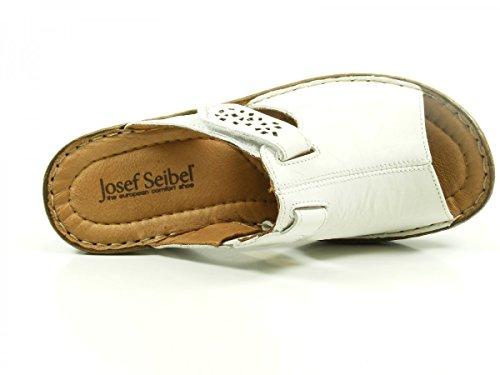 Josef Seibel Catalogna Womens Velcro Chiusura Sandali White SS17