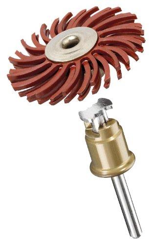 Dremel SpeedClic 473S Mehrzweck Feinschleifbürste, Zubehör für Multifunktionswerkzeug, Feinschleifbürste 25 mm zum Entgraten, Reinigen, Feinbearbeiten, Polieren von Kunststoff, Holz oder Metall