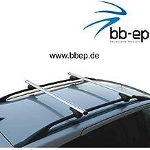 BARRE PORTATUTTO IN ALLUMINIO 90302641facile per Toyota Land Cruiser con normale (hochstehender) sul tetto per U della cinghia di montaggio o scanalature a T con 14mm di larghezza