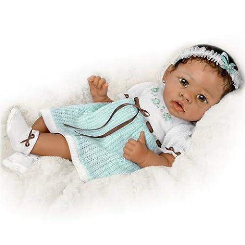 Alicia Berührungsaktive afro-amerikanische Babypuppe von Linda Murray