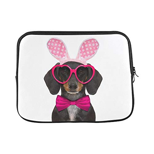 Hase Kostüm Dackel - JOCHUAN Design Benutzerdefinierte Dackel Wurst Hund Hase Ostern Ohren Hülse Weiche Laptop Tasche Tasche Haut Für MacBook Air 11