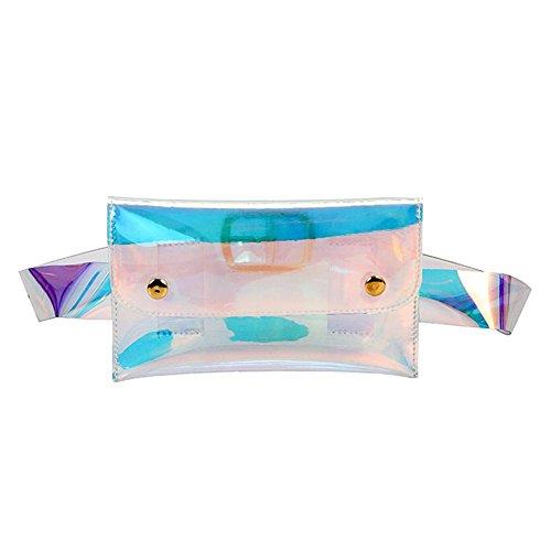 PB PEGGYBUY Sac banane Unisexe clair Ceinture Sacs à main Hologram Laser Tour de taille de plage étanche Sac de poitrine